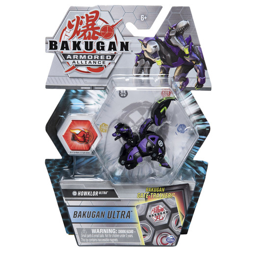 Bakugan Armored Alliance Ultra Trading Card and Figure - Howlkor