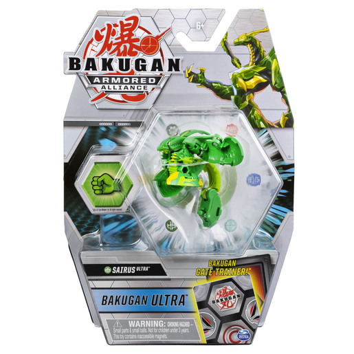 Bakugan Armored Alliance Ultra Trading Card and Figure - Sairus (Green)