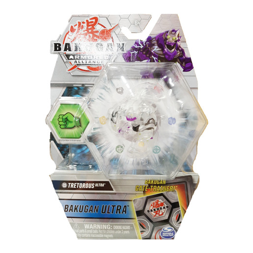 Bakugan Armored Alliance Ultra Trading Card and Figure - Tretorous (Clear)