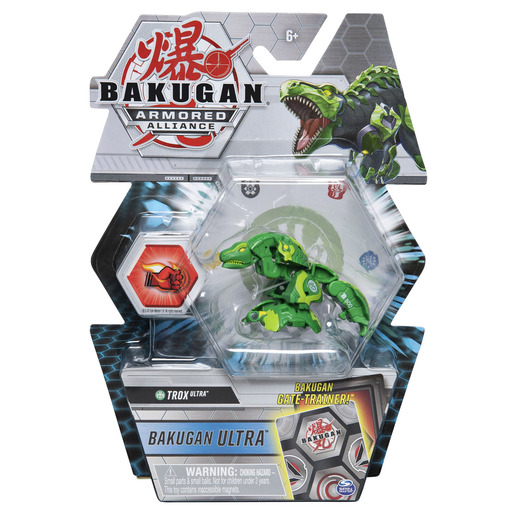 Bakugan Armored Alliance Ultra Trading Card and Figure - Trox