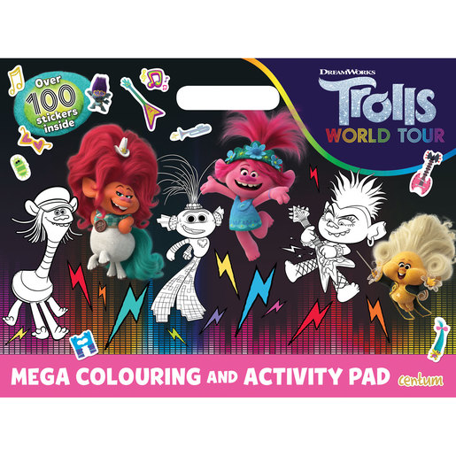 DreamWorks Trolls World Tour - Mega Colouring and Activity Pad