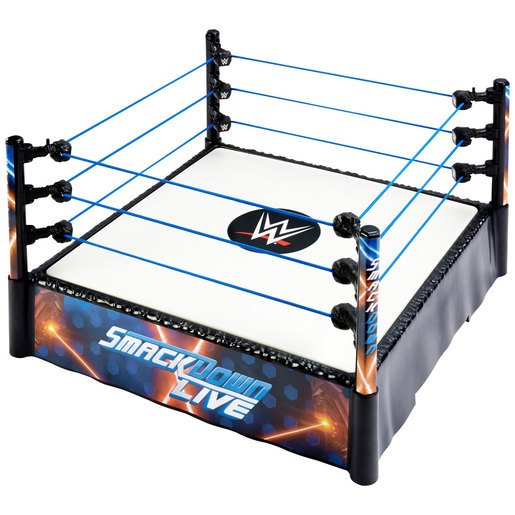 WWE Superstar Ring - SmackDown Live Spring Loaded Mat from TheToyShop
