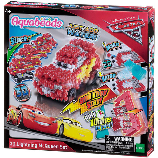 Aquabeads Disney 3D Lighting McQueen Cars Set