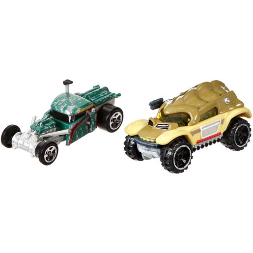 Star Wars Hot Wheels Cars - Boba Fett and Bossk