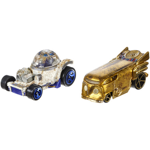 Star Wars Hot Wheels Cars - R2-D2 and C-3PO