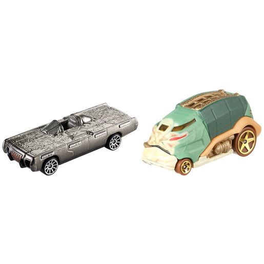 Star Wars Hot Wheels Cars - Jabba The Hut and Han Solo In Carbonite