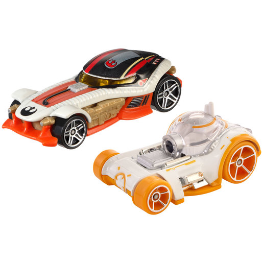 Star Wars Hot Wheels Cars - BB-8 and Poe Dameron