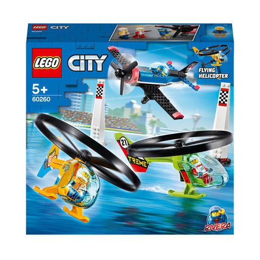 LEGO City Airport Air Race Toy Plane & Helicopters Set - 60260