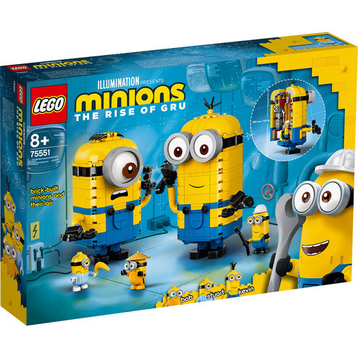 LEGO Minions The Rise of Gru Brick-Built Minions and Lair - 75551