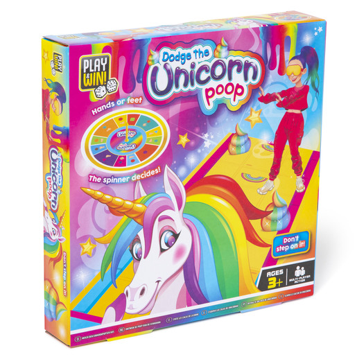 Play & Win Dodge The Unicorn Poop