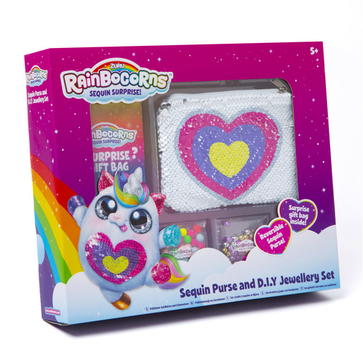 Rainbocorn Sequin Purse And D.I.Y Jewellery Set
