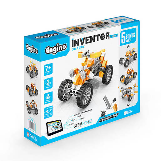 Engino Inventor Mechanics Quad Bike (5 Bonus Models)