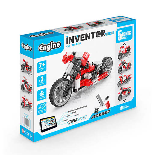 Engino Inventor Mechanics Custom Bike (5 Bonus Models) from TheToyShop