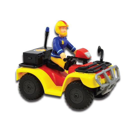 Fireman Sam Push Along Vehicle - Quad Bike with Figure