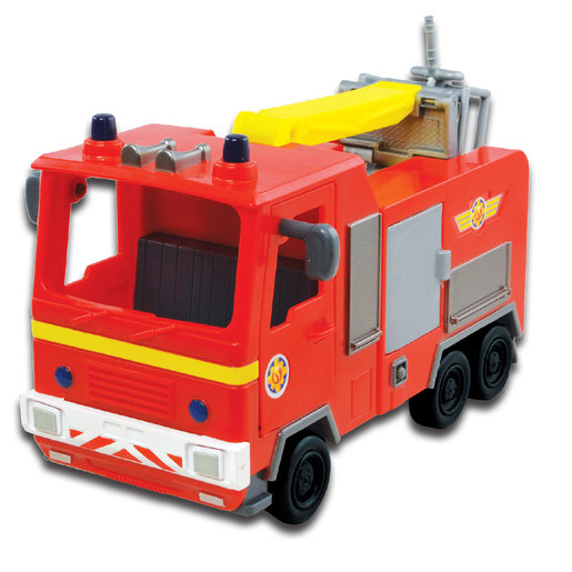 Fireman Sam Push Along Vehicle - Jupiter Fire Engine