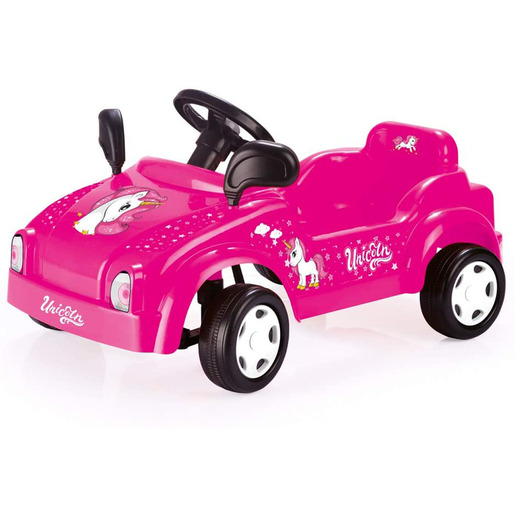 Dolu Pedal Powered Unicorn Pink Race Car With Working Horn