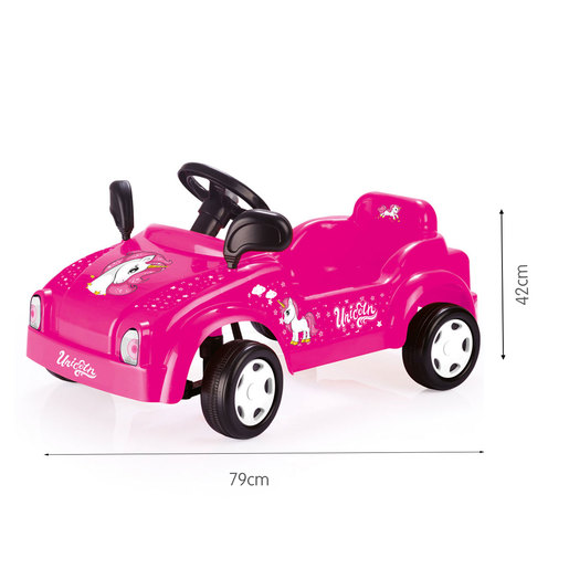 Dolu Pedal Unicorn Smart Car Ride-On- Pink