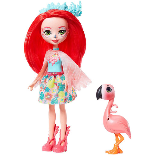 Enchantimals 15cm Doll - Fanci Flamingo and Swash
