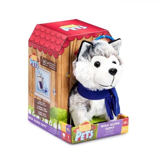 Pitter Patter Pets Walk Along Soft Toy - Husky