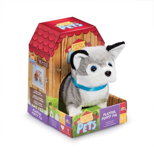 Pitter Patter Pet Playful Puppy Pal Soft Toy - Huskey