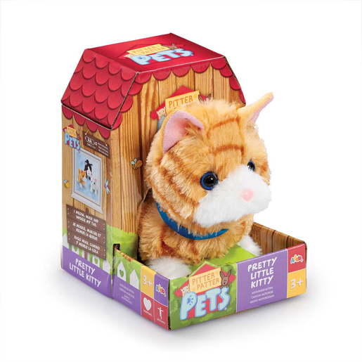 Pitter Patter Pets Pretty Soft Toy - Little Kitty (Ginger)
