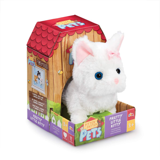 Pitter Patter Pets Pretty Soft Toy - Little Kitty (White)