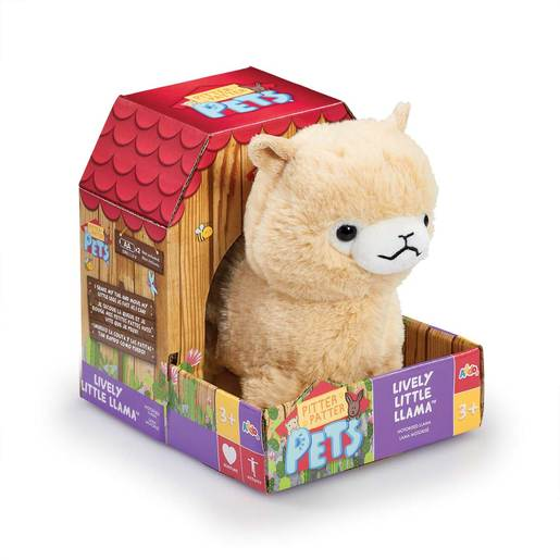 Pitter Patter Pets Lively Soft Toy Little Llama (Cream)
