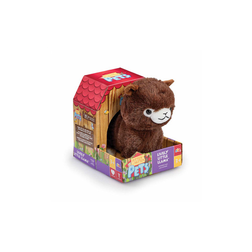 Pitter Patter Pets Lively Little Llama Plush Toy - Dark Brown