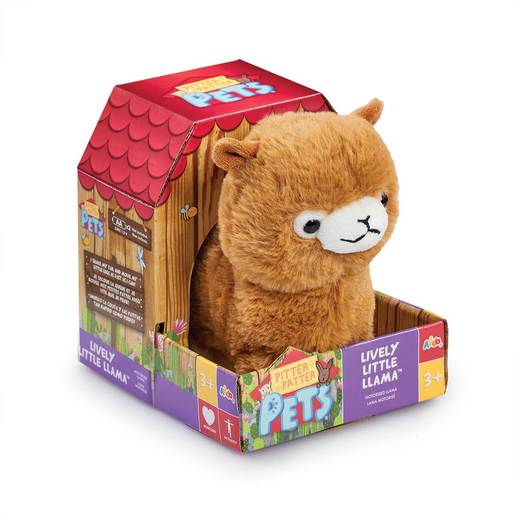 Pitter Patter Pets Lively Soft Toy - Little Llama (Light Brown)