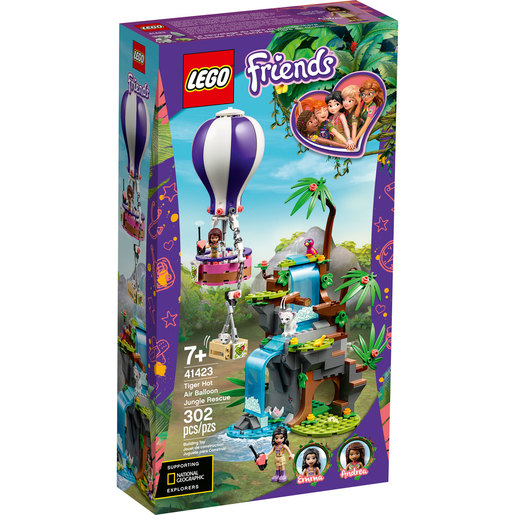 LEGO Friends Tiger Hot Air Balloon Jungle Rescue - 41423