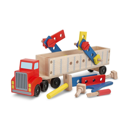 Melissa & Doug Big Wooden Truck Building Set