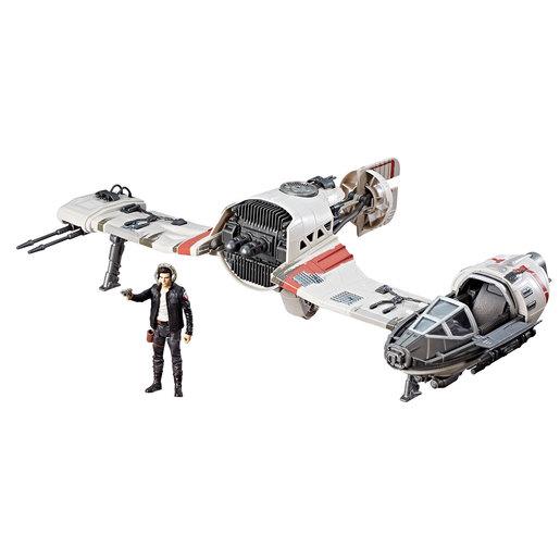 Star Wars Force Link Resistance Ski Speeder and Captain Poe Dameron Figure from TheToyShop