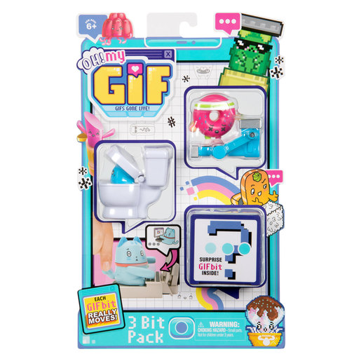 OH! MY GIF Moving Collectible Toy Mystery Trio Pack - 3 GIF bits (Styles Vary)