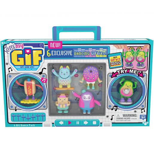 OH! MY GIF Moving Collectible Toy Dance Pack - 6 GIF Bits