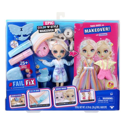 FailFix Epic Colour 'N' Style Makeover Doll - @2Dreami