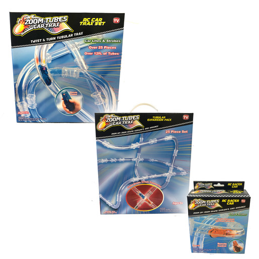 Zoom Tubes RC Trax Set, Tubular Expansion Set And RC Racer Car