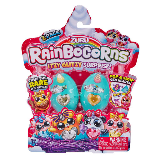 Rainbocorns Itzy Glitzy Surprise Eggs 2 Pack by ZURU