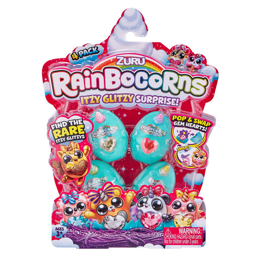 Rainbocorns Itzy Glitzy Surprise Eggs 4 Pack by ZURU