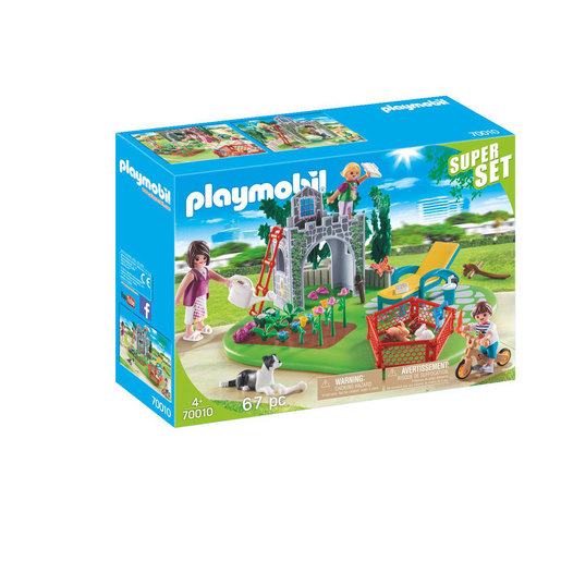 Playmobil 70010 Super Set Family Garden With Small Animals And Play Area