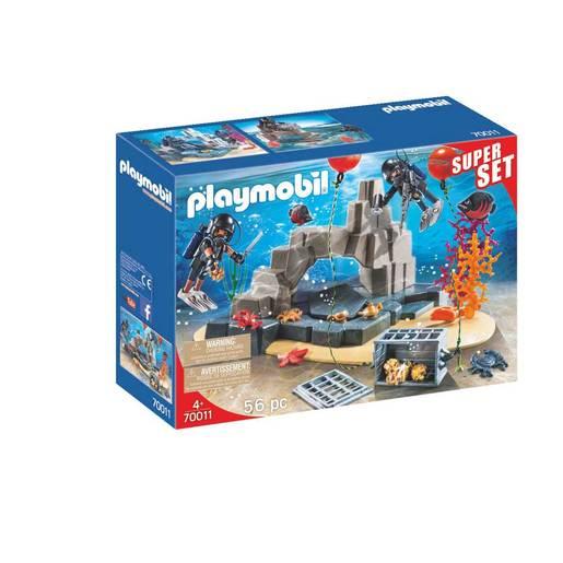 Playmobil 70011 Super Set Police Dive Unit With Hidden Treasure