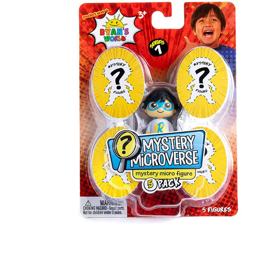 Ryan's World 5 Pack Micro Mystery Figures (Styles Vary)