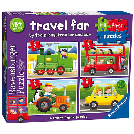 Ravensburger My First Puzzles Travel Far 4-in-1 Puzzles