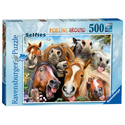 Ravensburger Selfies Horsing Around Puzzle - 500pc