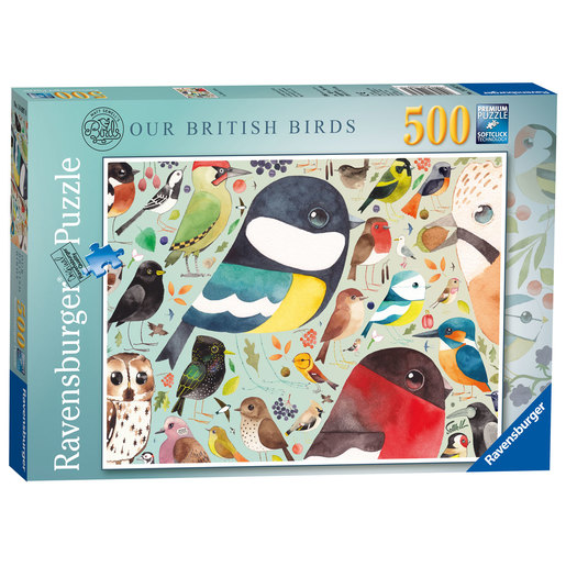 Ravensburger Matt Sewell's Our British Birds Puzzle - 500pc
