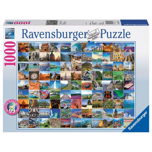 Ravensburger 99 Beautiful Places On Earth Puzzle - 1000pc