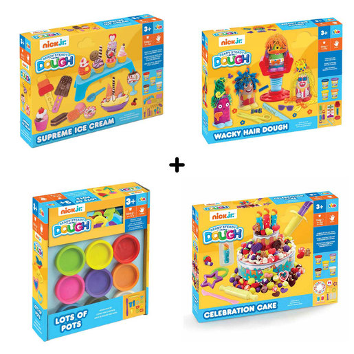 Nick Jr. Ready Steady Dough Bundle - 4 Pack from TheToyShop