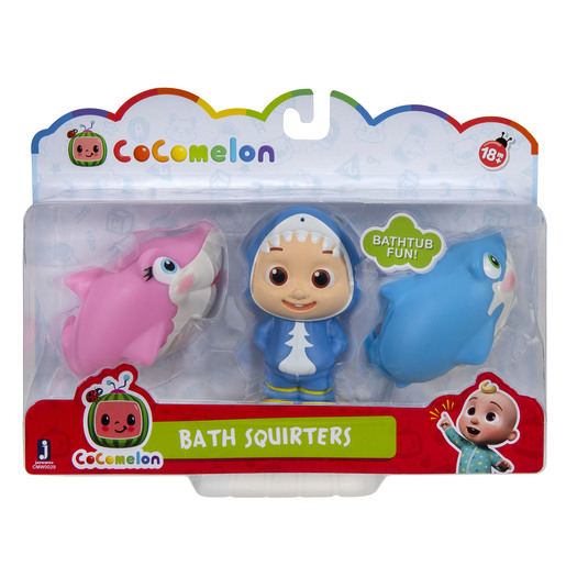 CoComelon Bath Squirters - JJ and 2 Sharks