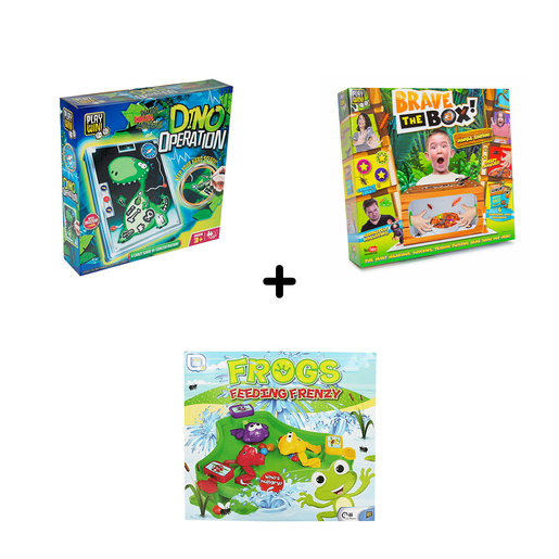 Fun Games Bundle - 3 Pack (Brave The Box, Dino Operation and Frog Feeding Frenzy)