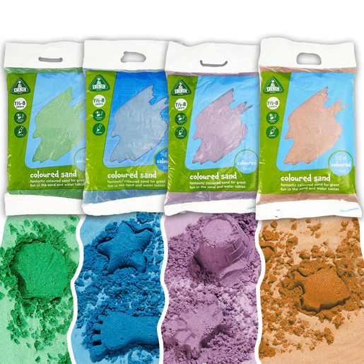 Early Learning Centre Coloured Sand - 4 x 5kg bags