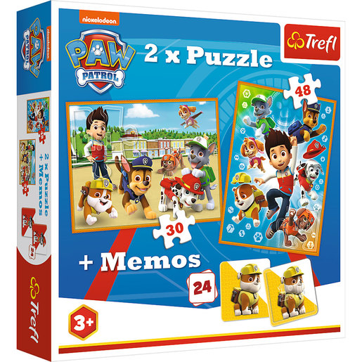 Trefl Paw Patrol 2 Pack of Puzzles and Memory Game